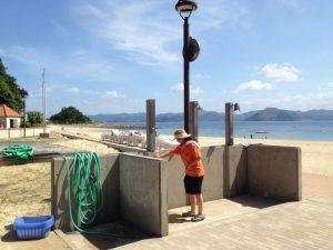 伊王島海水浴場の海開き3