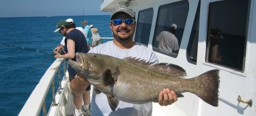 Grouper on party boat fishing Tampa Fl