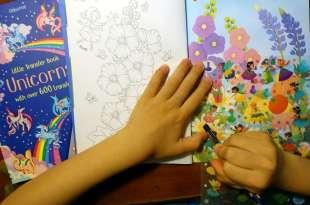 培養耐心與專注力 Little Transfer Book轉印貼紙著色書 還可以讓孩子好忙好忙