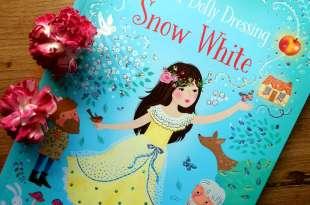 女寶媽怎麼閃的過 Snow White穿衣打扮貼紙故事書 可重覆撕貼