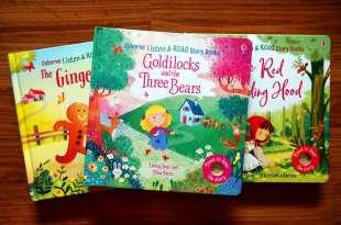 不用點讀筆|英國Usborne Listen & Learn|用手觸摸就會說故事的童話音效書