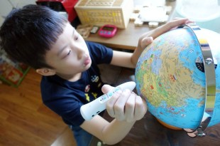 忍不住又入手的教具 台灣製造SkyGlobe 10吋點讀筆版中英發音地球儀