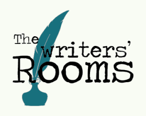 The Writers' Room logo includes a feather pen in an ink bottle
