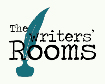 the writers room logo with feather pen and ink bottle
