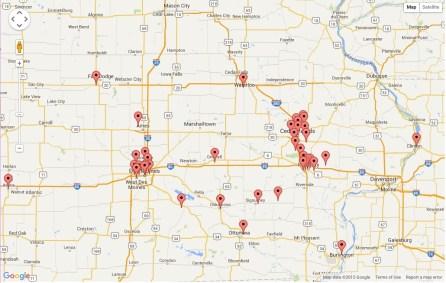 Page Visitors - Iowa East