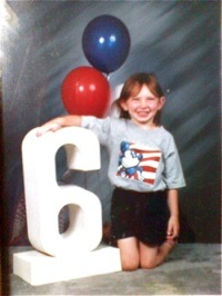 Jaymie Grahlman at age 6