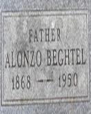 Alonzo Beghtel headstone