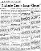 Murder Case Never Closed