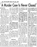 Murder Case Never Closed