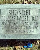 "Douglas ""D.J."" Shondel II gravestone"