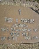 Fred Sanders headstone