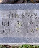 Helen Bown gravestone
