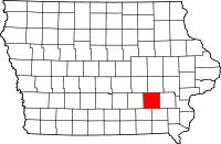 Keokuk County in Iowa