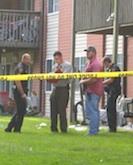 Police at Mosby crime scene