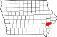 Muscatine County in Iowa