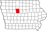 Webster County in Iowa