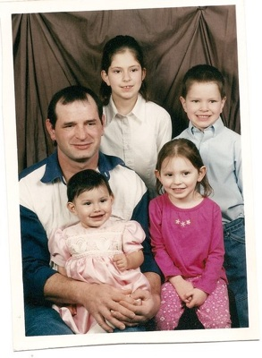 Jay Grahlman with his four children