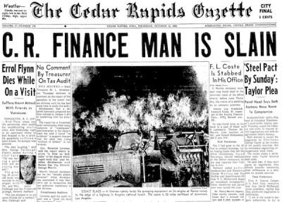Courtesy Cedar Rapids Gazette, Oct. 15, 1959