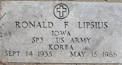 Ronald Lipsius gravestone