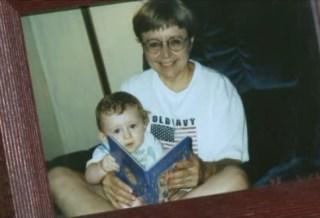 Bobbi Crawford with grandson