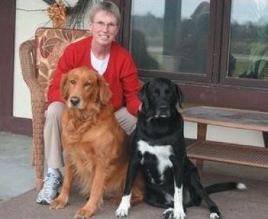 Liz Deatsch with dogs Annie and Joe