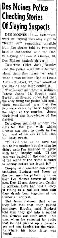 Courtesy The Daily Iowan, Jan. 4, 1962