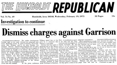 Courtesy The Humboldt Republican, Feb. 19, 1975