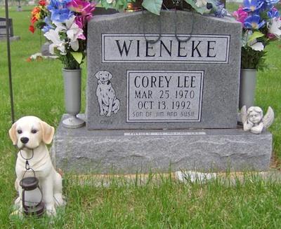 Corey Wieneke tombstone
