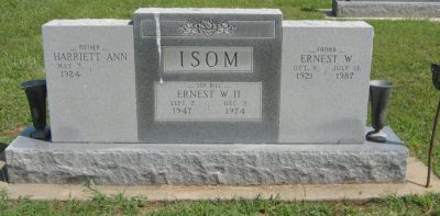 Billy Isom's gravestone