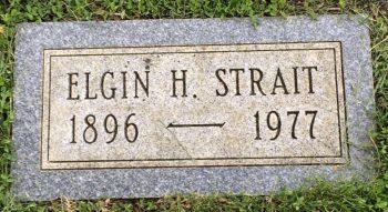 Elgin Strait headstone
