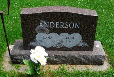 Lana Anderson headstone