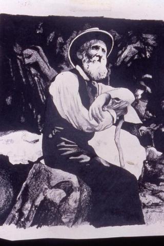 Susan Kersten painting of old man