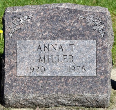Anna T Miller gravestone