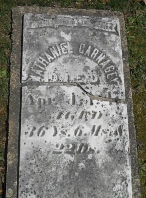 Nathaniel Carnagey's gravestone
