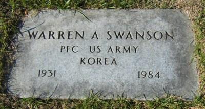 Warren Swanson gravestone