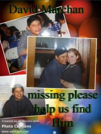 David Marchan's younger brother set up a Twitter account in hopes of generating information about his missing brother.