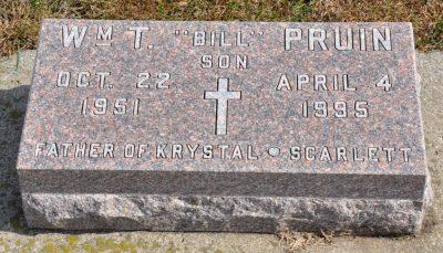 Billy Pruin gravestone