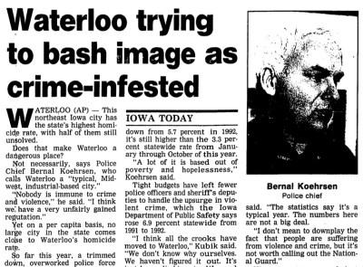 Courtesy The Gazette, Dec. 16, 1993 | Download the PDF document