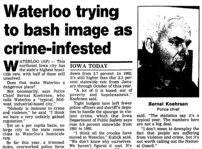 Courtesy The Gazette, Dec. 16, 1993 | Download the PDF document