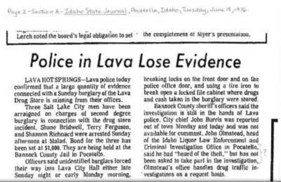 From the Idaho State Journal, June 15, 1976