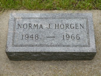 Norma Jean Horgen gravestone