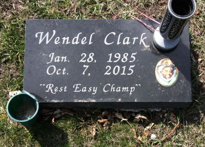 Wendel Clark gravestone
