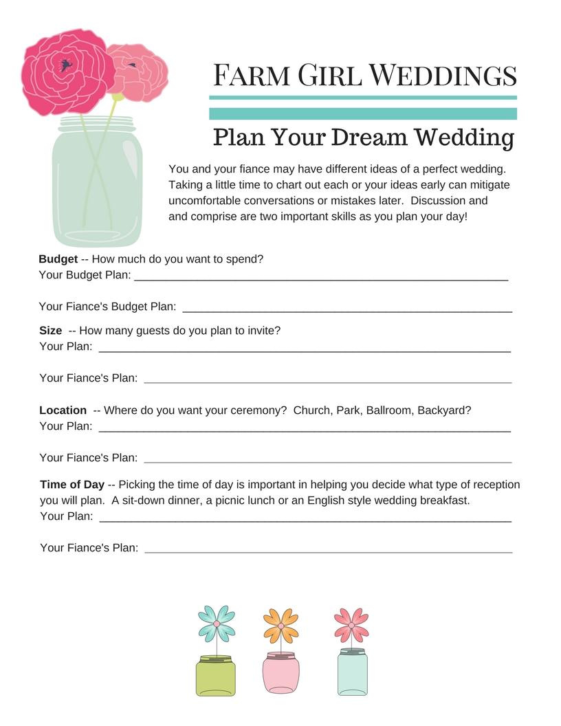 free wedding planning pdfs