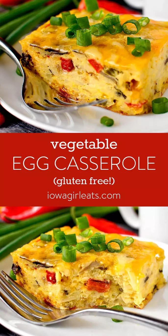 Photo collage of Vegetable Egg Casserole