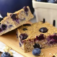 Blueberry Oatmeal Breakfast Bars (GF)