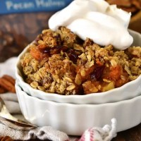 Maple-Pecan Apple, Cranberry, Sweet Potato Crisp