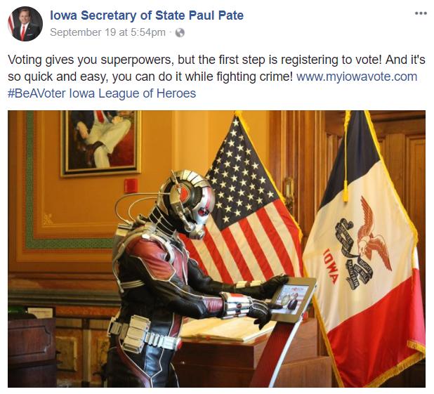 Iowa Secretary of State Paul Pate/Facebook