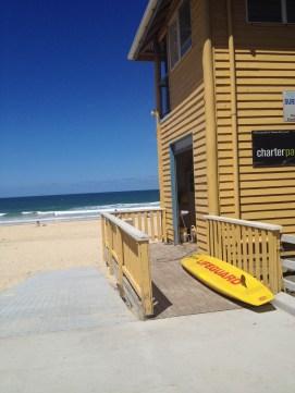 Life guard station at Rainbow Beach