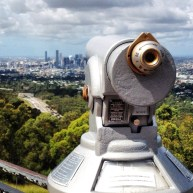 View of the CBD from Mt. Coot-tha