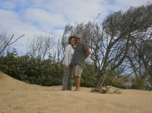 Love at the top of a sand dune